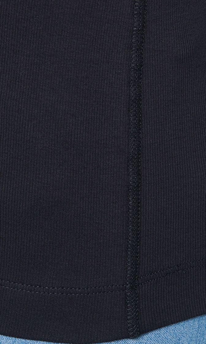 Marc Cain Basic langærmet t shirt midnat blå 2