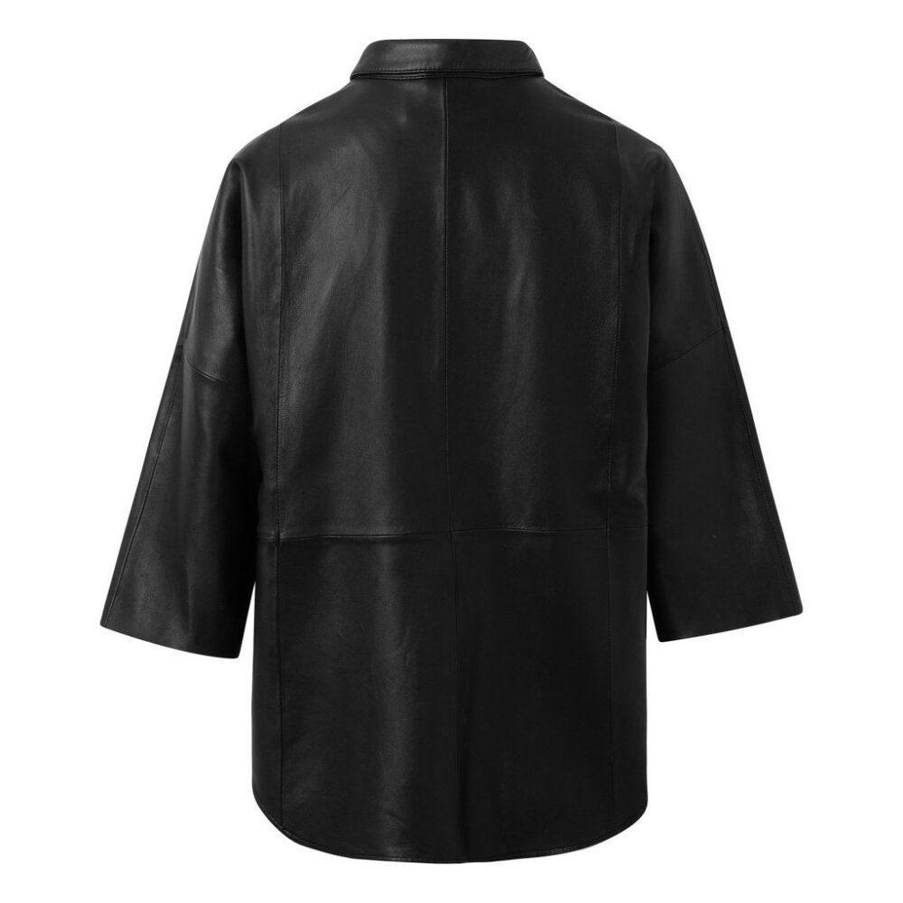 Depeche oversize skindskjorte sort 13626 099 1