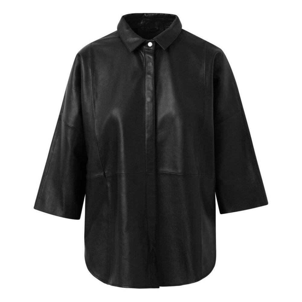 Depeche oversize skindskjorte sort 13626 099