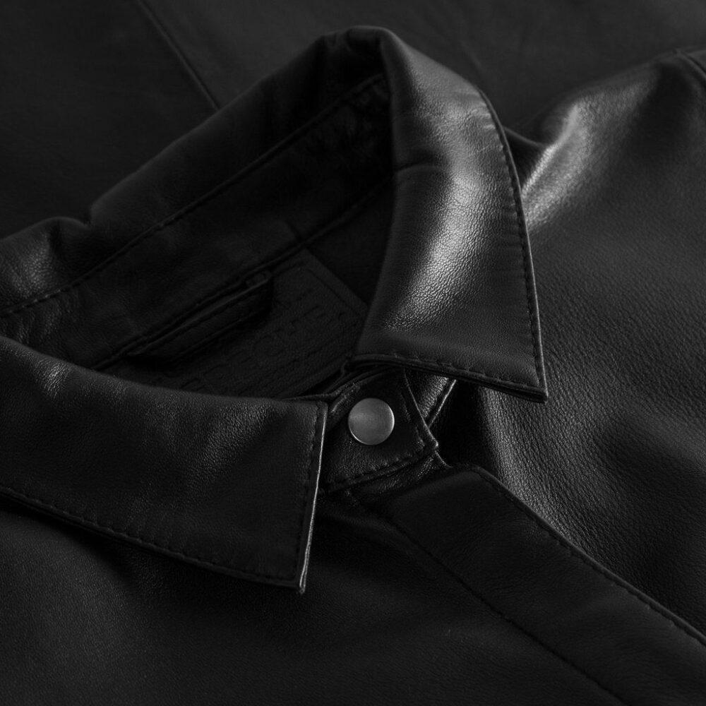 Depeche oversize skindskjorte sort 13626 099 3