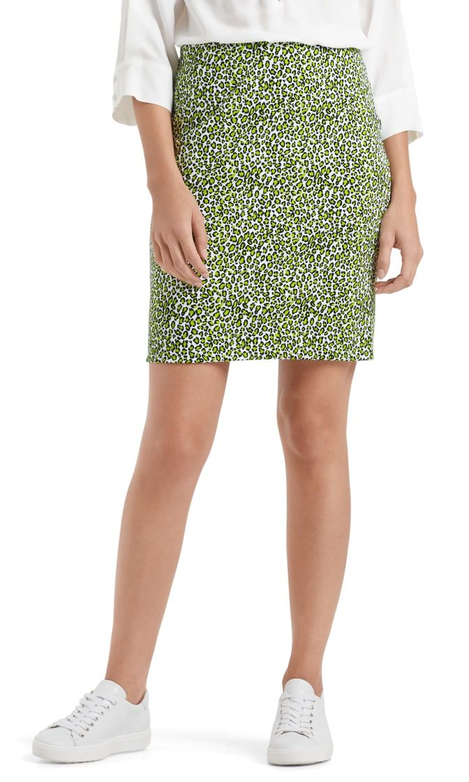 Marc Cain Sports nederdel printed neon lime NS7119J80 402 2