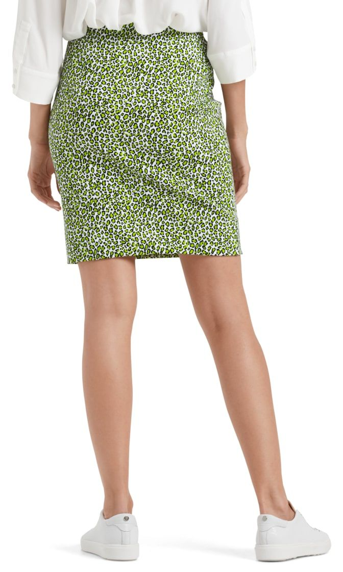 Marc Cain Sports nederdel printed neon lime NS7119J80 402 3