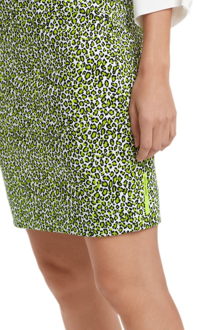 Marc Cain Sports nederdel printed neon lime NS7119J80 402 4