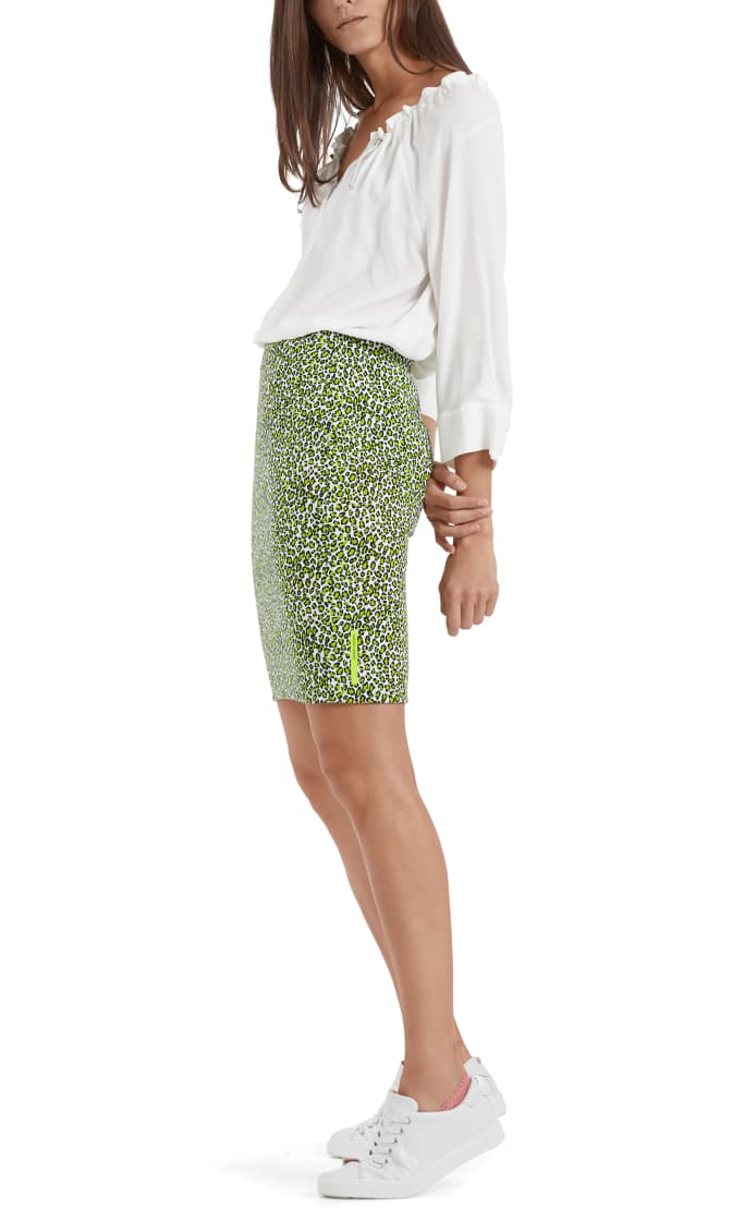 Marc Cain Sports nederdel printed neon lime NS7119J80 402 5