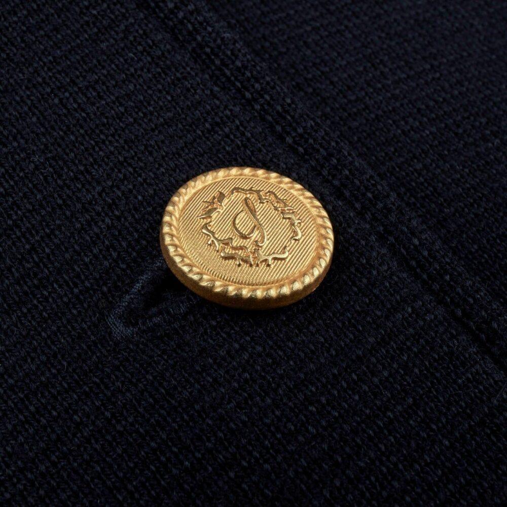 Stenstrøms strik uldjakke marineblå 450093 6151 190 4