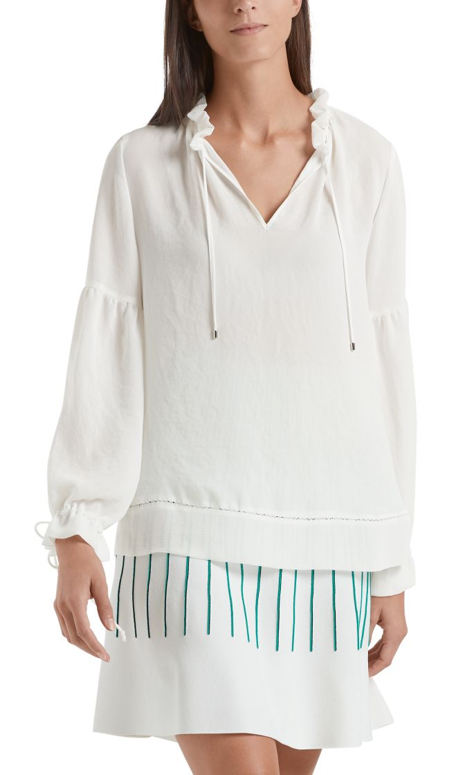 Marc Cain Collection bluse hvid NC5131W30 110 1