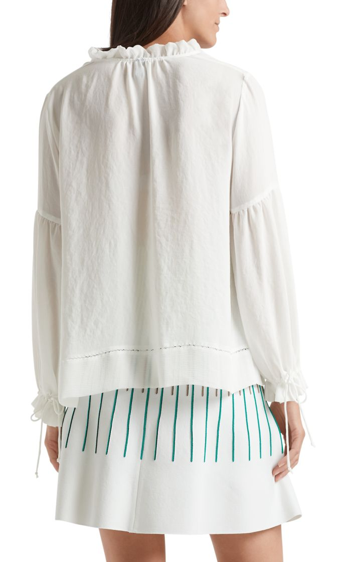 Marc Cain Collection bluse hvid NC5131W30 110 2