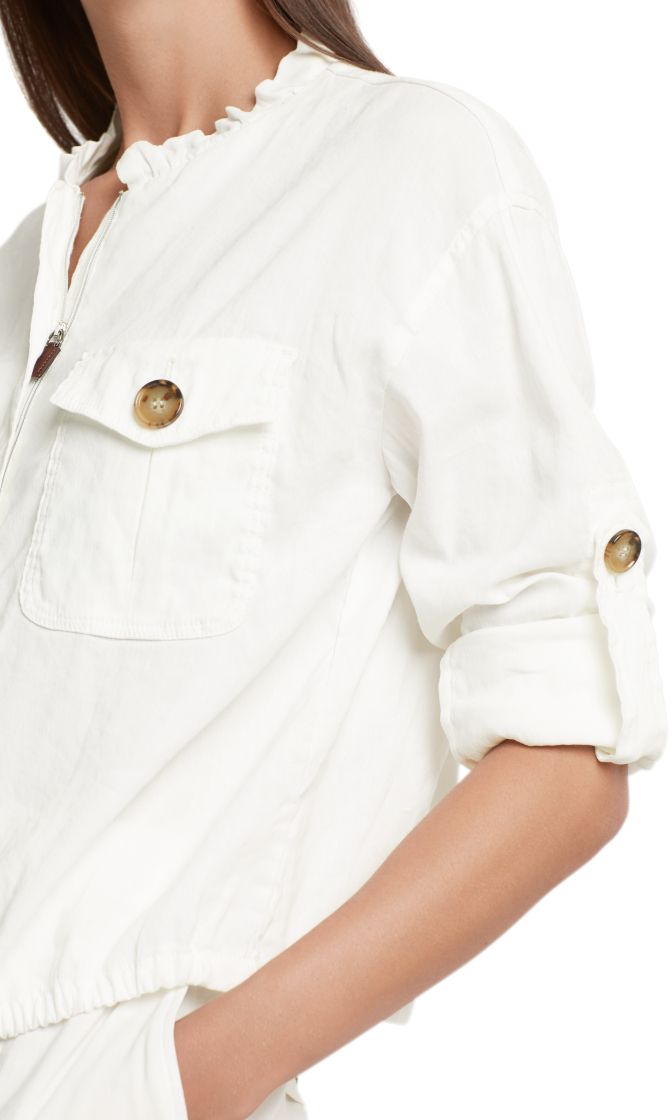 Marc Cain Collections jakke i linen off white NC3162W47 110 3