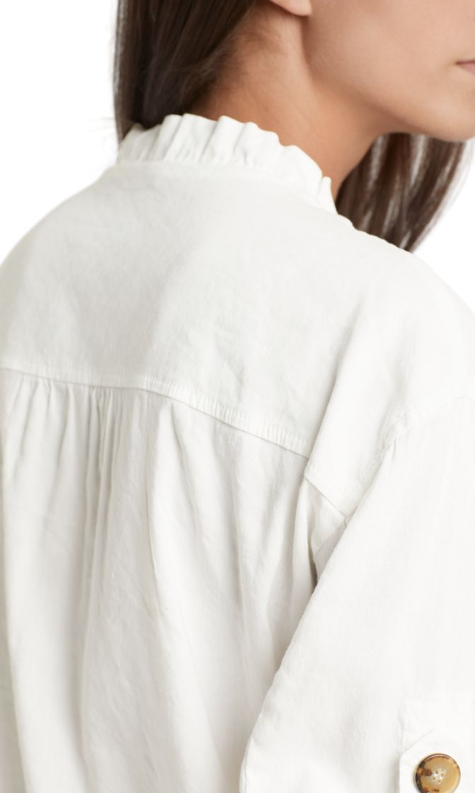 Marc Cain Collections jakke i linen off white NC3162W47 110 4
