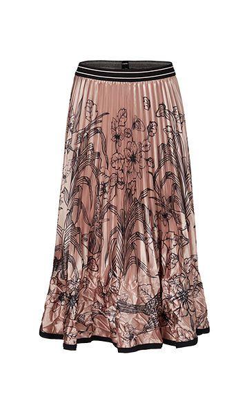 Marc Cain nederdel plisse rosa PC7143W60 214