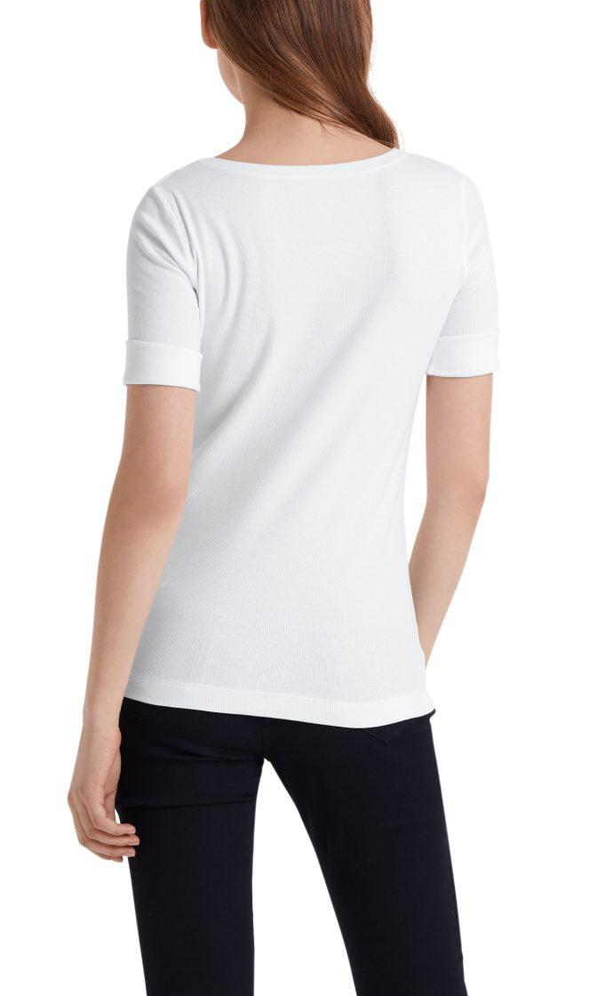 Marc Cain Essentials tshirt hvid E4809J50 100 2