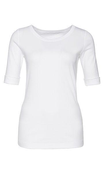 Marc Cain Essentials tshirt hvid E4809J50 100