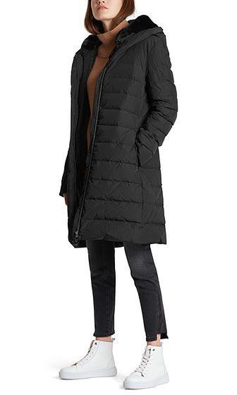 Marc Cain Collections dunfrakke fake fur sort