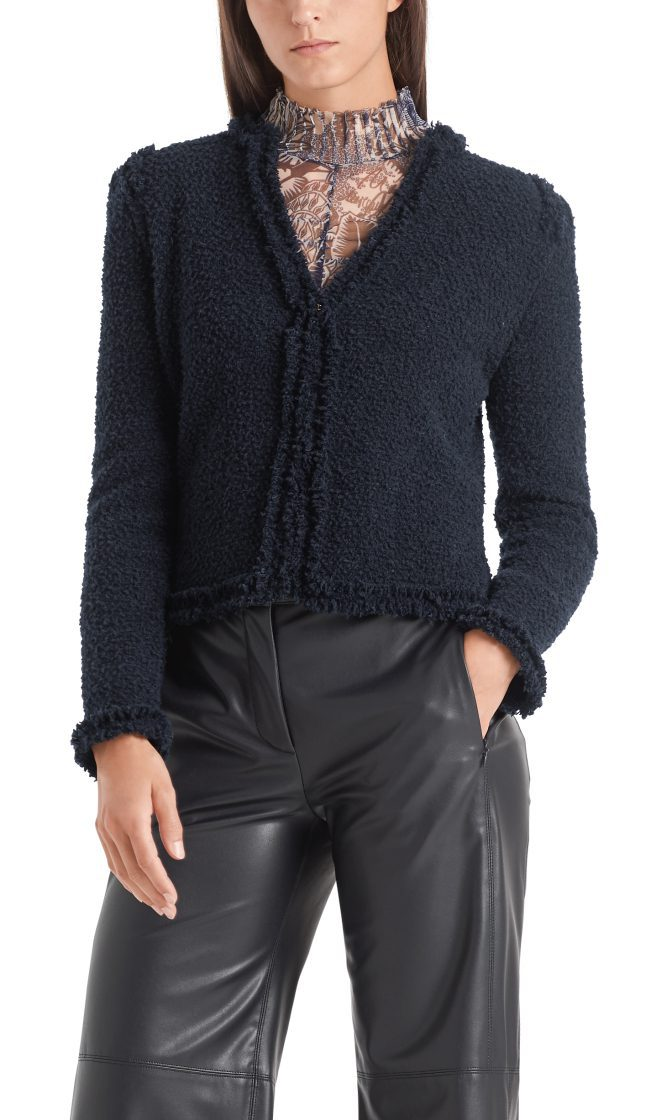 Marc Cain Collections jakke i boucle midnight blue 1