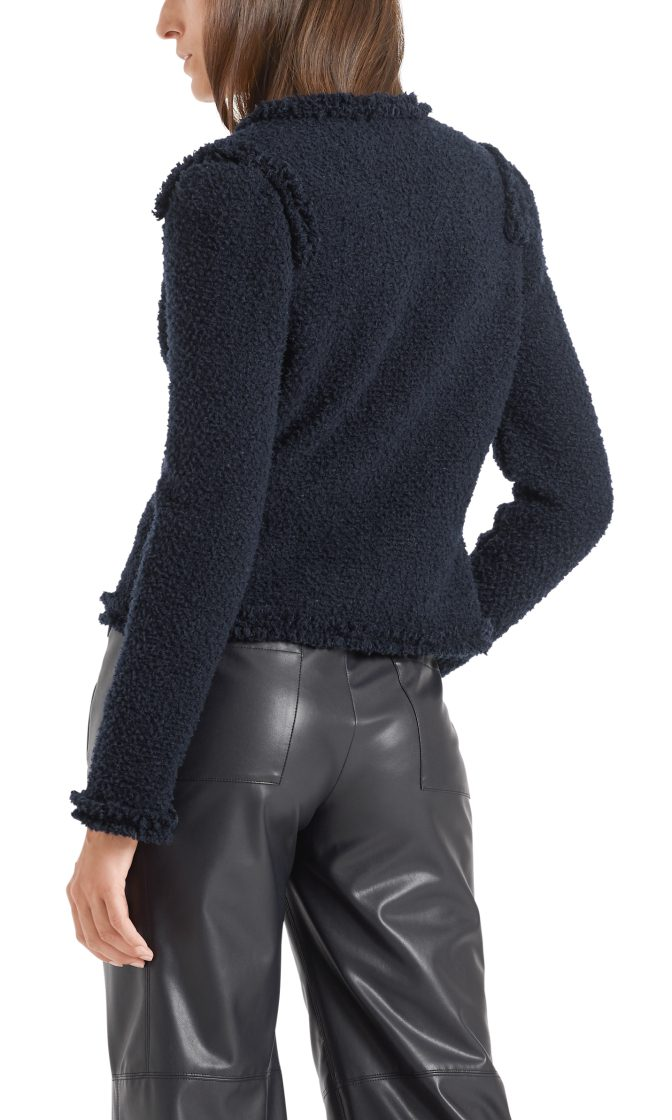 Marc Cain Collections jakke i boucle midnight blue 2