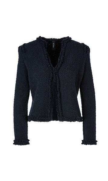 Marc Cain Collections jakke i boucle midnight blue
