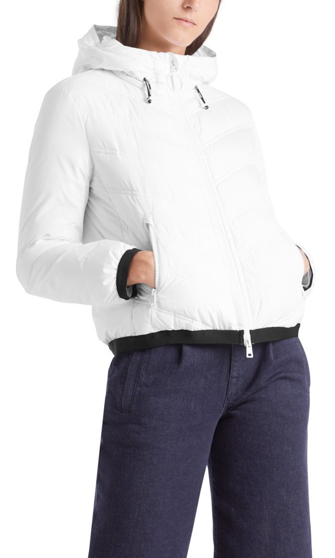 Marc Cain Sports quilted dunjakke hvid 1