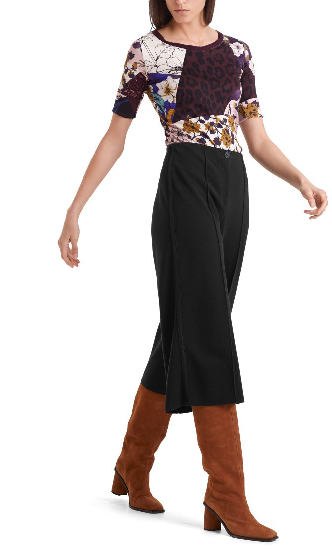 Marc Cain culotte bukser sort i uld 4