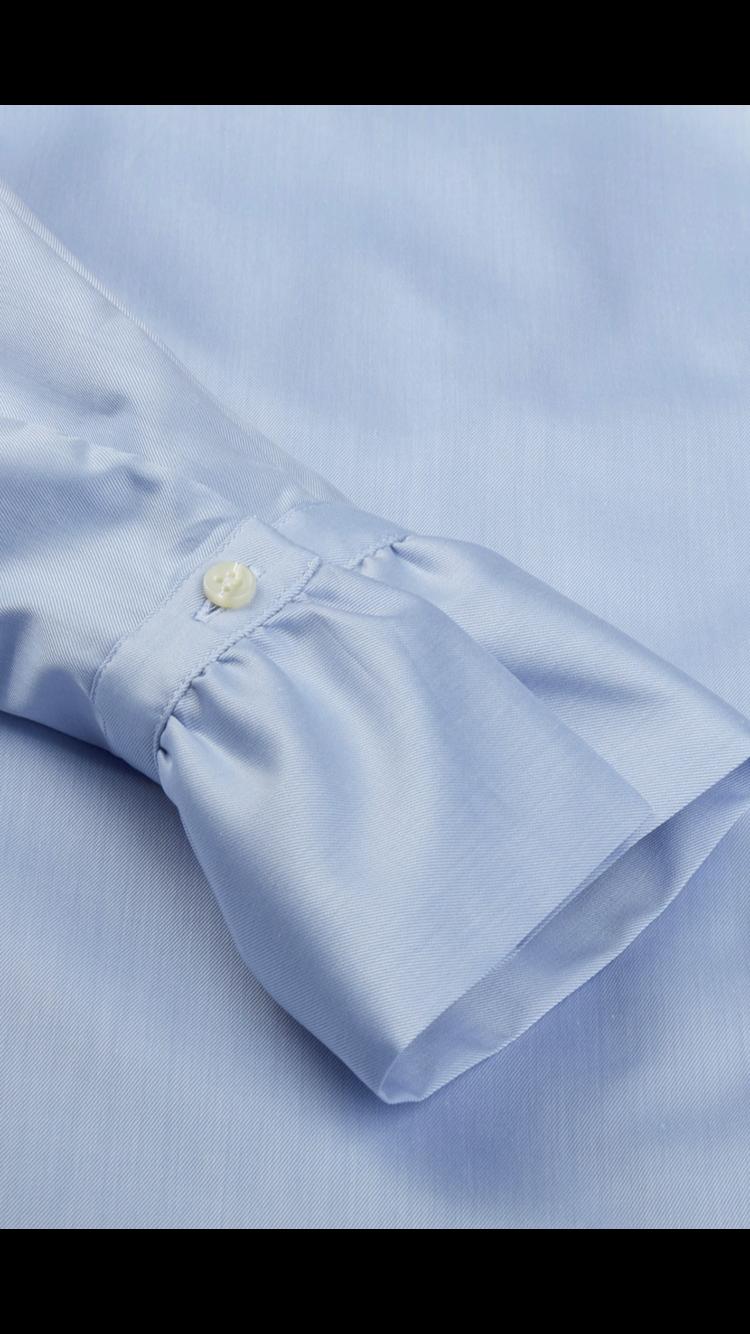 Stenstroems skjorte feminine blaa med flaeser 2