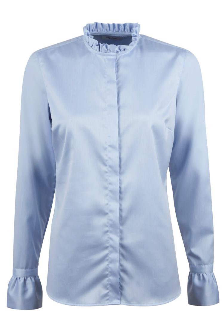 Stenstroems skjorte feminine blaa med flaeser