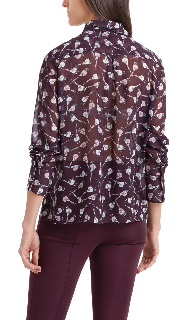 Marc Cain Collections Blouse with mini birds wine 2