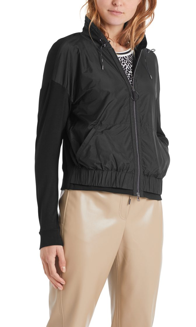 Marc Cain Sports jakke i mixed materiale sort 1