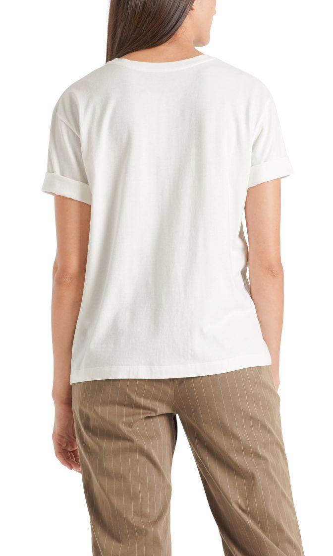 Marc Cain sports T shirt med pailetter raahvid og sort 2