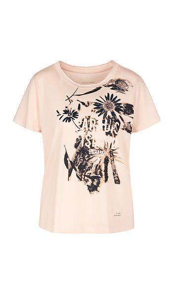 Marc Cain Sports printed T shirt powder rose