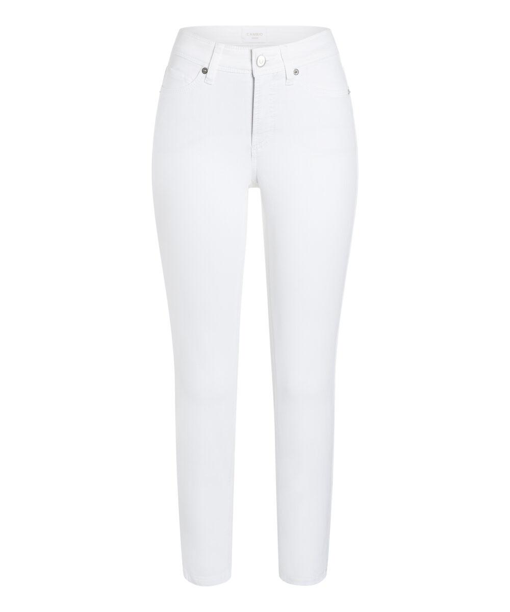 Cambio bukser Piper short hvid denim