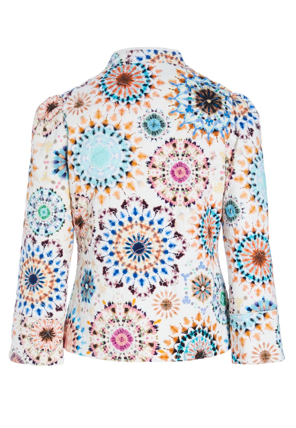 Dea Kudibal quilted jakke Rosy Kaleidoscope 1 scaled