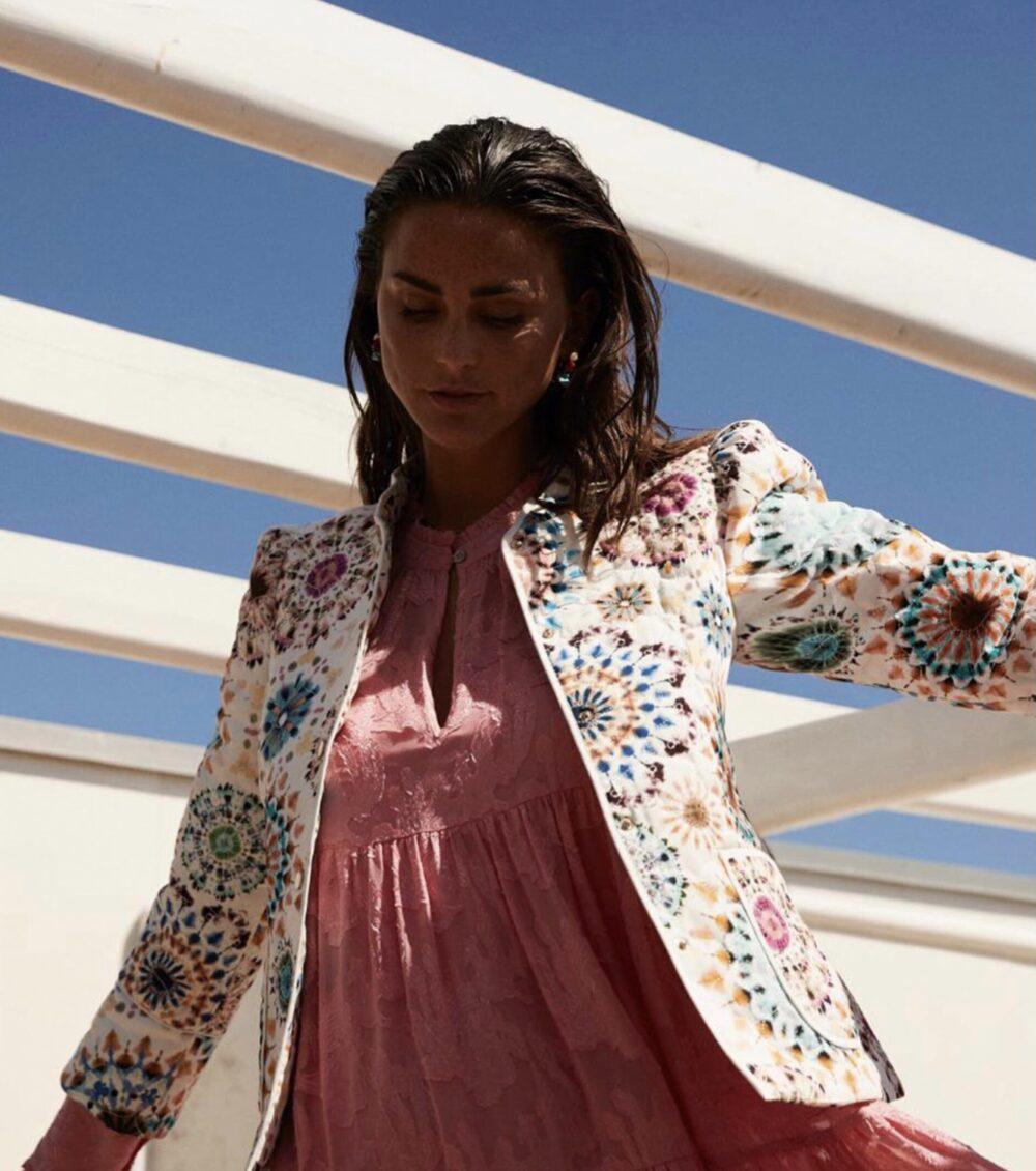 Dea Kudibal quilted jakke Rosy Kaleidoscope 2