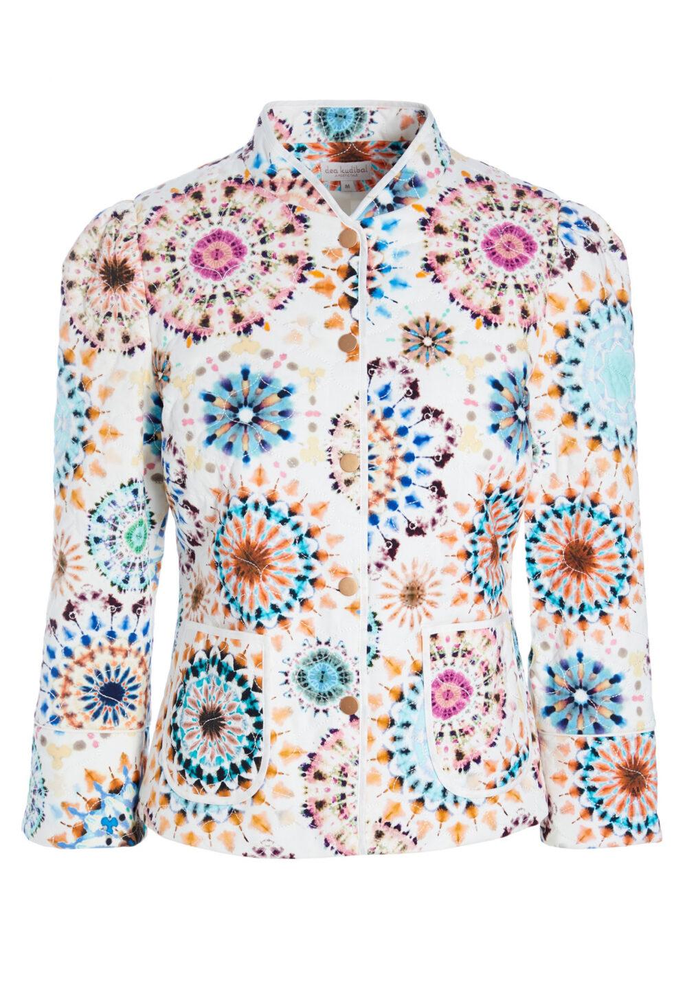 Dea Kudibal quilted jakke Rosy Kaleidoscope scaled
