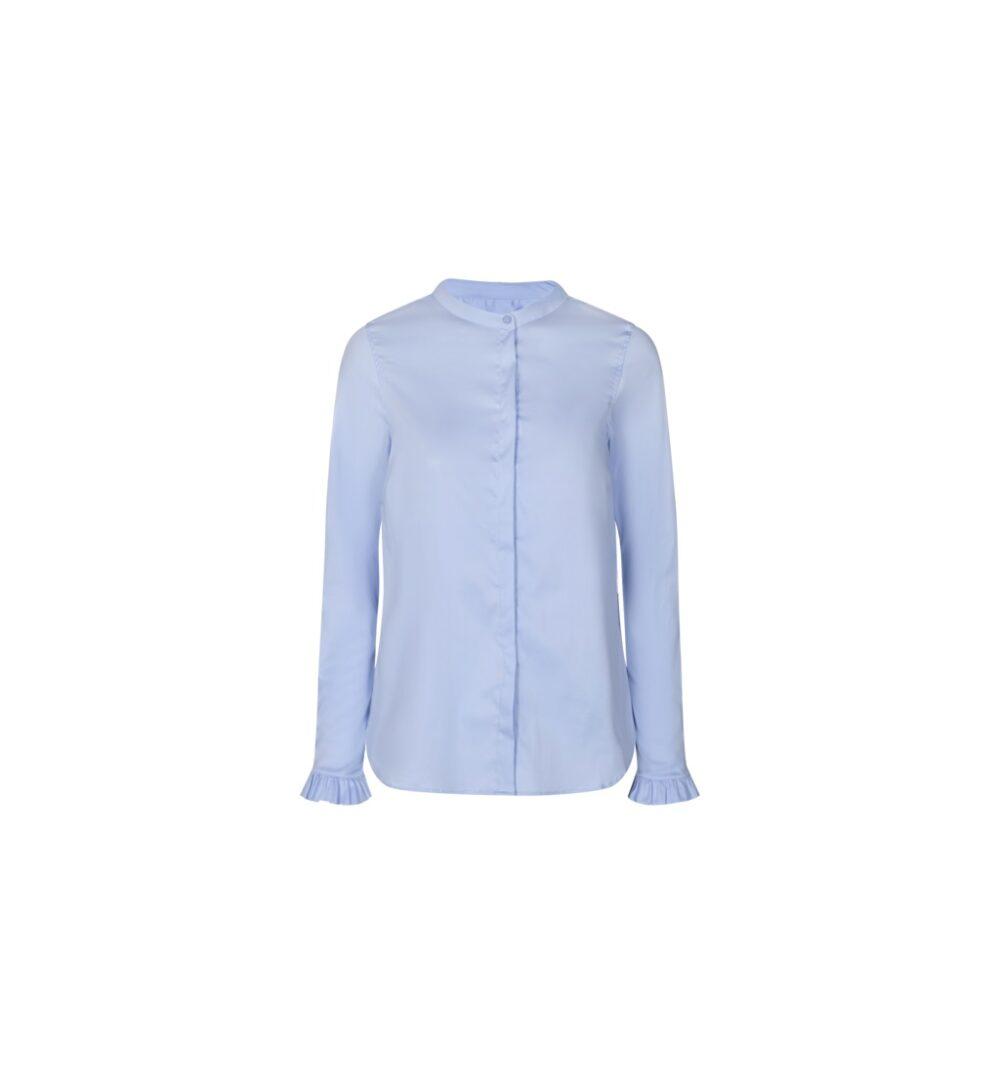 Mos Mosh Mattie sustainable shirt light blue