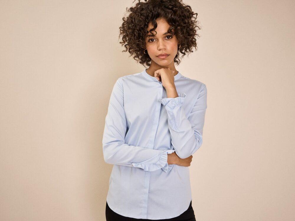 Mos Mosh Mattie sustainable shirt light blue 2
