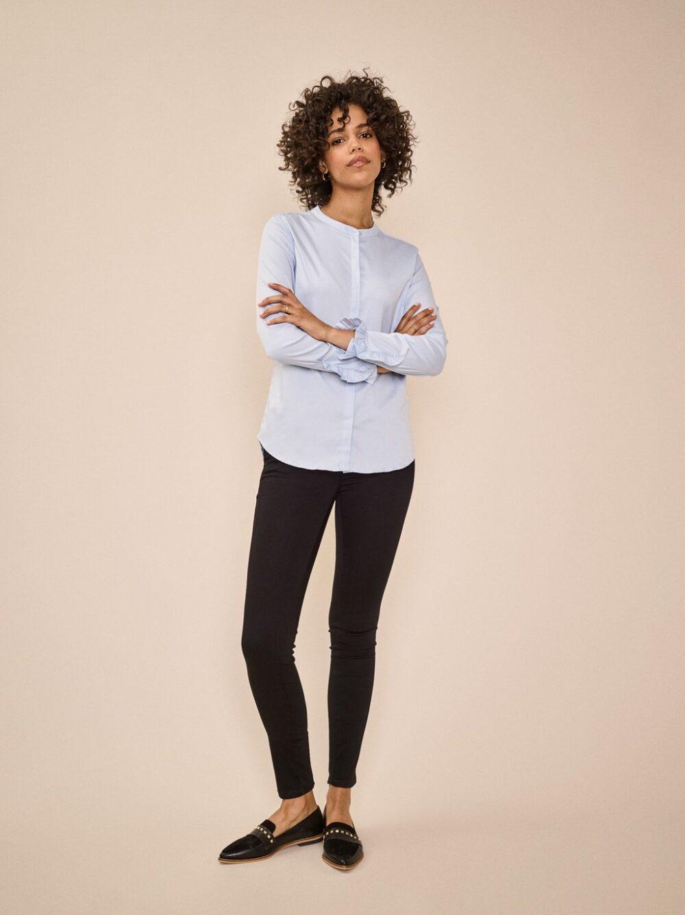 Mos Mosh Mattie sustainable shirt light blue 3