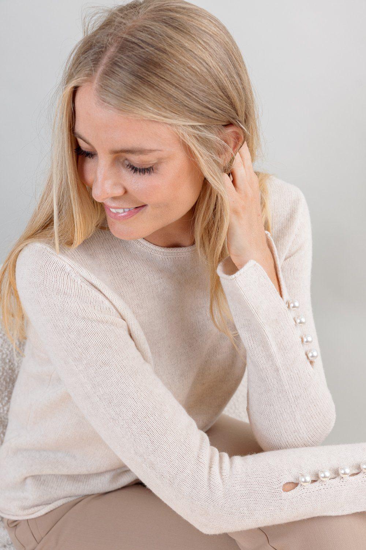 OTAY Abbelone cashmere sweater warm beige 1