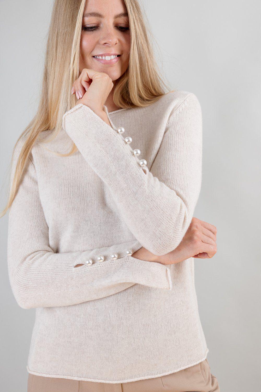OTAY Abbelone cashmere sweater warm beige