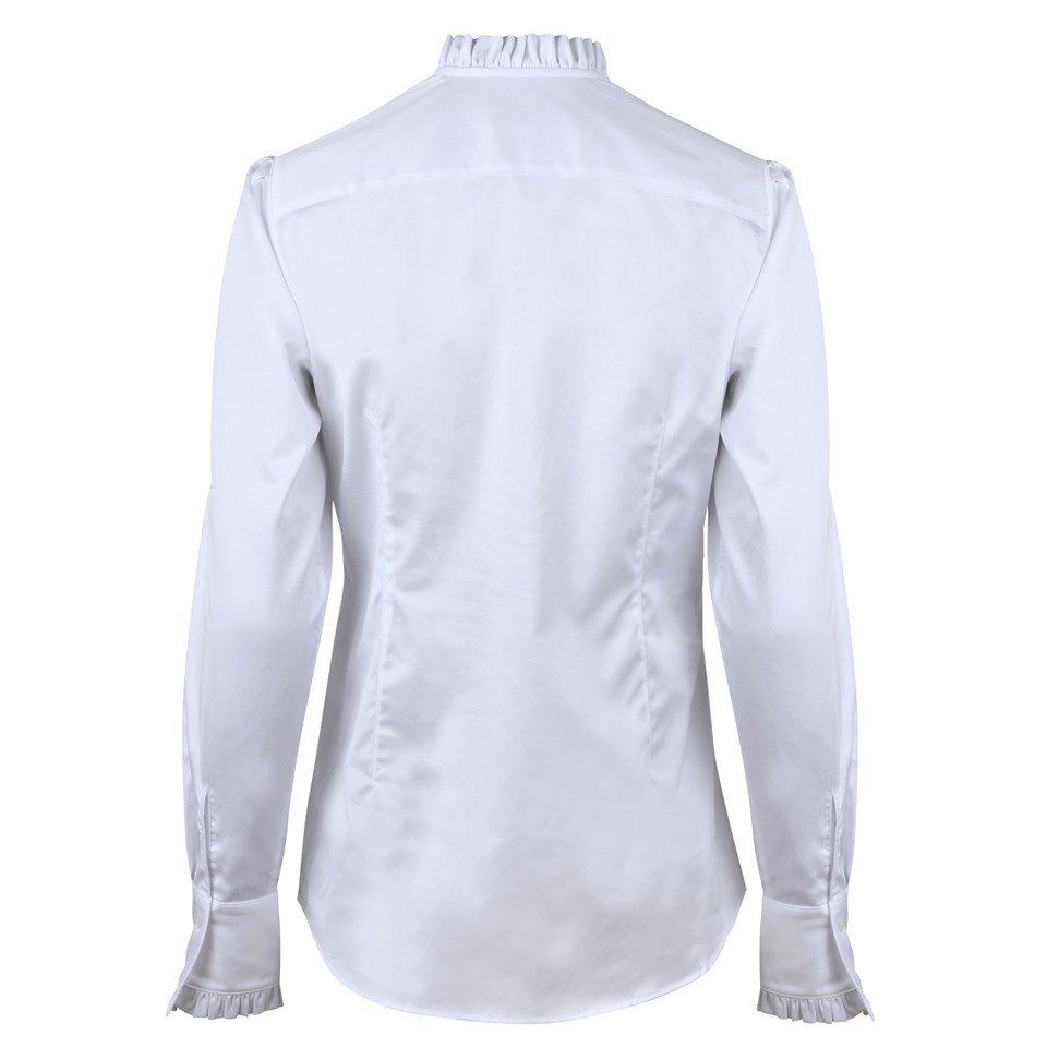 Stenstroems Bree feminine frill blouse white 1