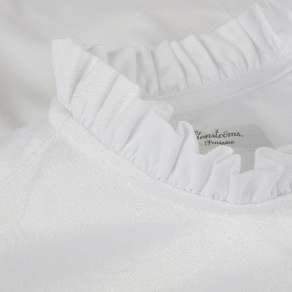 Stenstroems Bree feminine frill blouse white 2