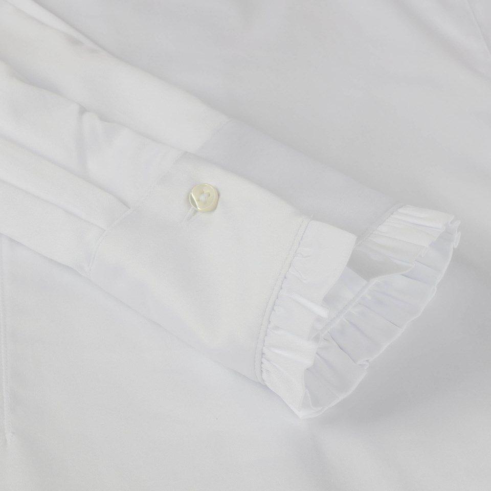 Stenstroems Bree feminine frill blouse white 3