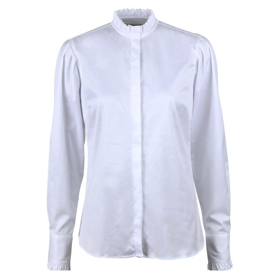 Stenstroems Bree feminine frill blouse white