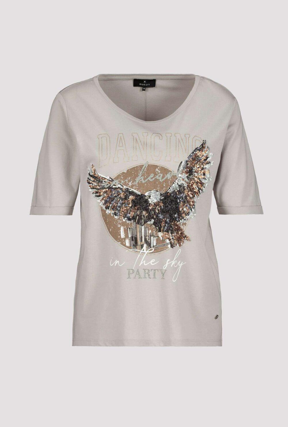 Monari T shirt med pailetter
