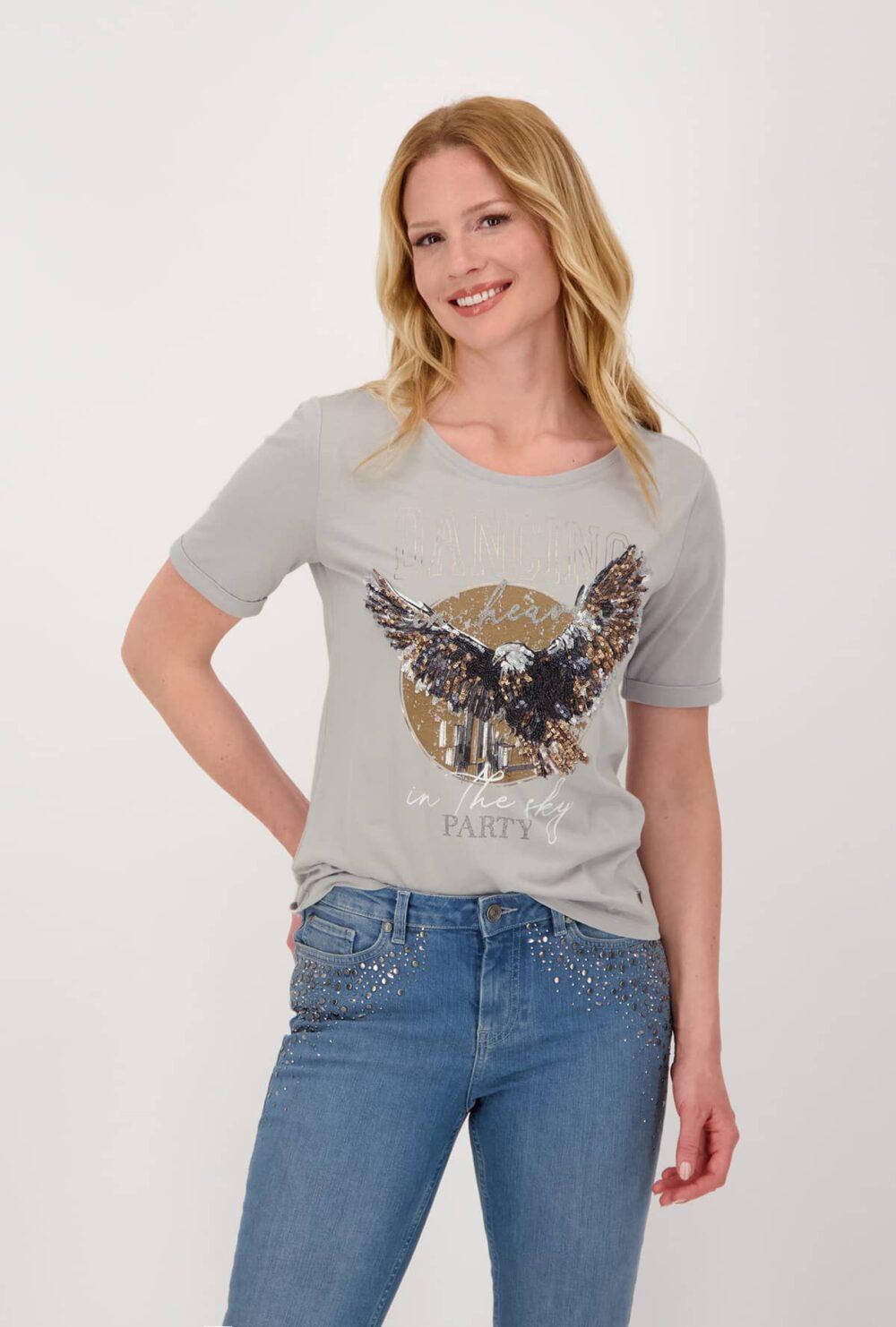Monari T shirt med pailetter 3