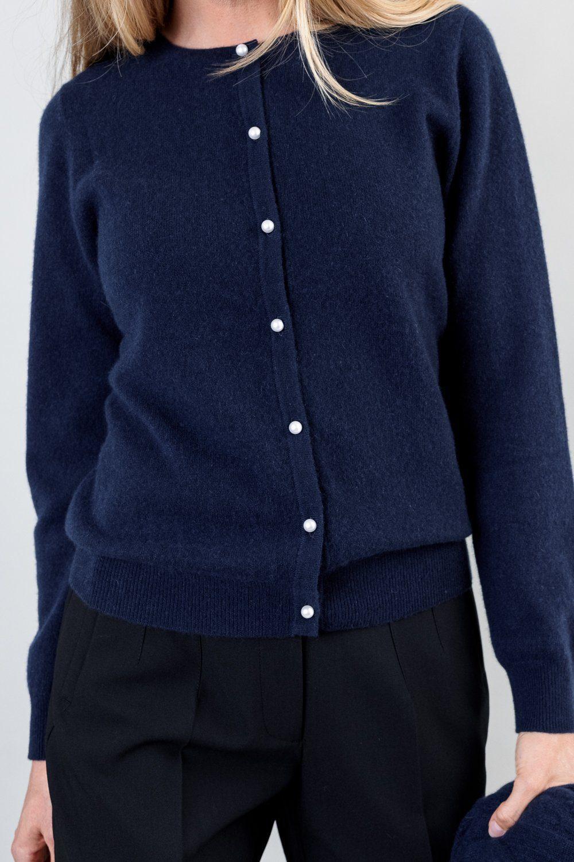 OTAY Lailabeth Cashmere cardigan navy 3