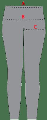 JQ Jeans størrelsesguide
